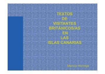 BRITÁNICOS/AS EN LAS ISLAS CANARIAS