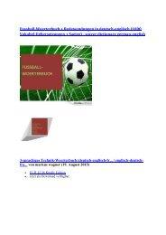 Neuerscheinungen 2015: kindle ebooks (Fussball-Woerterbuch englisch franzoesisch Technik Begriffe