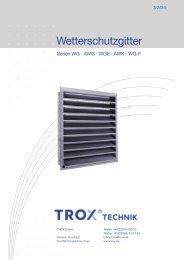 Wetterschutzgitter - Trox