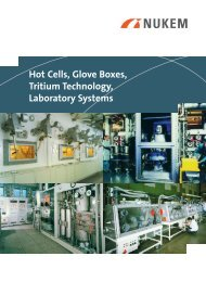 Hot Cells, Glove Boxes, Tritium Technology, Laboratory Systems