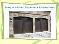 Best Garage Door Material in Montgomery County.pdf