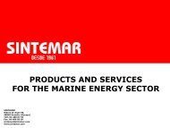 PRODUCTS AND SERVICES FOR THE MARINE ENERGY SECTOR