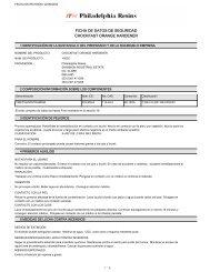 FICHA DE DATOS DE SEGURIDAD CHOCKFAST ORANGE HARDENER