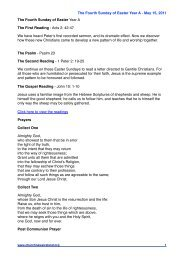 4th Sun of Easter A - Church News Ireland
