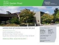 2200 garden Road - Cassidy Turley Northern California