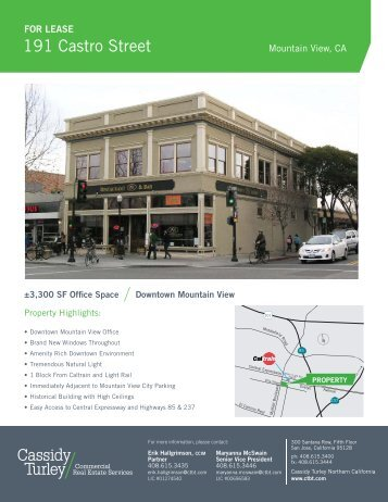 191 Castro Street - Cassidy Turley Northern California