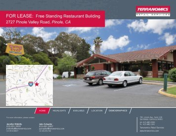 FOR LEASE: Free Standing Restaurant Building