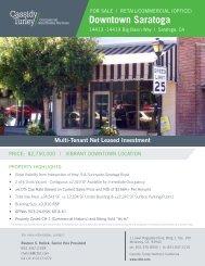Downtown Saratoga - Cassidy Turley Northern California