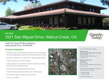 1931 San Miguel Drive Walnut Creek CA