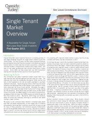 Single Tenant Market Overview