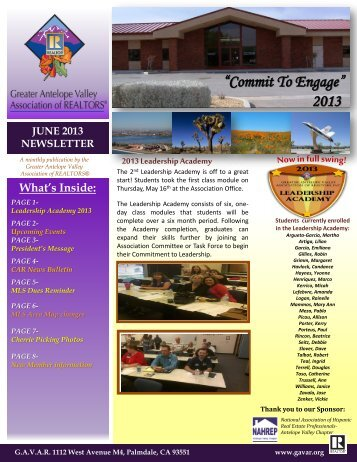 """""""Commit To Engage"""" 2013"""