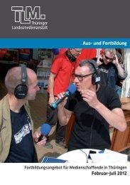 Aus- und Fortbildung - Thüringer Landesmedienanstalt