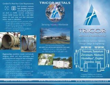 TRICOR METALS Titanium,Tantalum Zirconium, Niobium Hastelloys ...