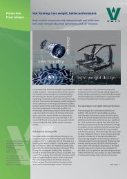 Presse Info Press release Hot forming: Less weight, better ...