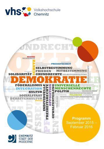 Programm der Volkshochschule Chemnitz, September 2015 – Februar 2016