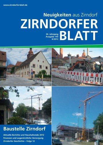 Baustelle Zirndorf - Das Zirndorfer Blatt
