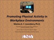 Promoting Physical Activity in Workplace Environments