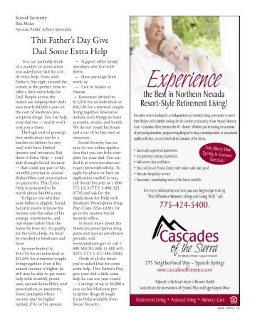 This Father's Day Give Dad Some Extra Help - Senior Spectrum ...