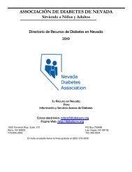 Guía de Recursos de Diabetes - Get Healthy Washoe