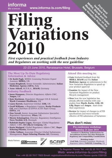 Filing Variations 2010 - Michor Consulting eU