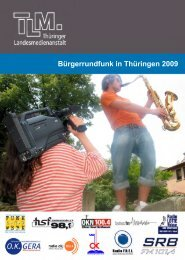Bürgerrundfunk in Thüringen 2009 - Thüringer Landesmedienanstalt