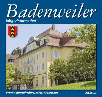 Bürgerinformation www.gemeinde-badenweiler.de
