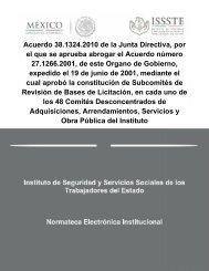 ACUERDO DE LA JUNTA DIRECTIVA POR EL QUE SE ... - Issste