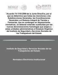 Acuerdo 74.1318.2009 de la Junta Directiva, por el que se ... - Issste