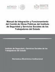 Manual de Integración y Funcionamiento del Comité de ... - Issste
