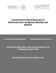 Lineamientos Generales para la Administración de Bienes Muebles del ISSSTE