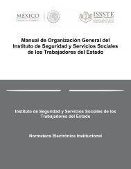 Manual de Organización General del Instituto de Seguridad y ...