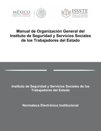Manual de Organización General del Instituto de Seguridad y ...