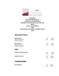 weissherbst weine / blush wines - Zum Markgrafen
