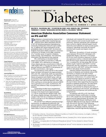 Volume 10, Number 4 April 2007 - National Diabetes Education ...