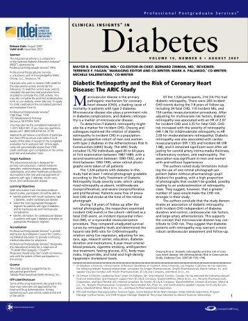 Volume 10, Number 8 August 2007 - National Diabetes Education ...