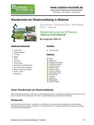 Wanderhotel am Westerwaldsteig in Nistertal - Outdoor-Touristik