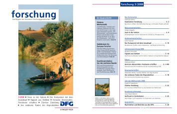 forschung - Ausgabe 3/2008 - DFG