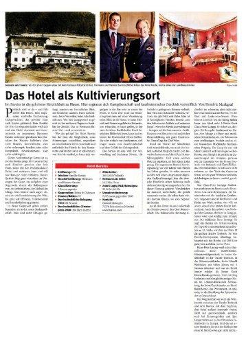 Das Hotel als Kultivierungsort - HGK Hotel- und Gastronomie-Kauf eG