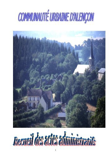Recueil 2005-04 - Communauté urbaine d'Alençon