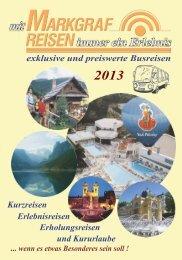 Katalog 2013 - Markgraf Reisen