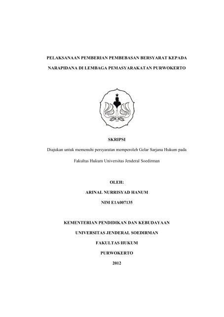 Skripsi Arinal Nh Pdf Fakultas Hukum Unsoed