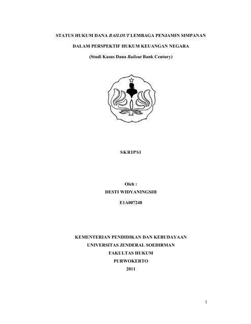 Skripsi Desti E1a007248 F Hukum Pdf Fakultas Hukum