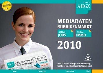 MEDIADATEn RUBRIKEnMARKT 2010 - AHGZ