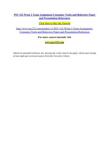 PSY 350 PSY/350 PSY350 WEEK 2 Final Project Outline- LATEST