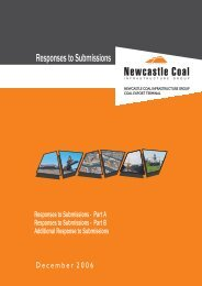 Responses to Submissions - Newcastle Coal Infrastructure Group