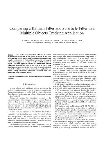 Comparing a Kalman Filter and a Particle Filter in a ... - ResearchGate