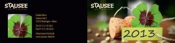 Familie Klose Unterer Hof 3 72555 Metzingen ... - Stausee Hotel