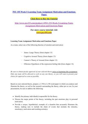 Motivation and emotion worksheet learning team