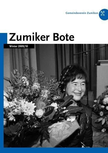 PDF – ZUBO-Broschuere – Winter 2009/2010 - Zumiker Bote