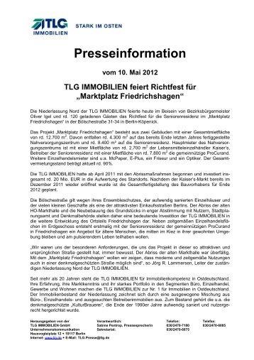 Marktplatz Friedrichshagen - TLG Immobilien GmbH